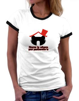 Home Is Where Pantherette Is Women Ringer T-Shirt