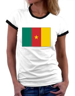 Cameroon Flag Women Ringer T-Shirt