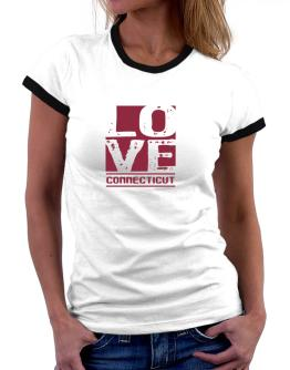 Love Connecticut Women Ringer T-Shirt