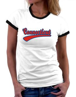 Retro Connecticut Women Ringer T-Shirt