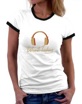 Detroit Techno - Headphones Women Ringer T-Shirt