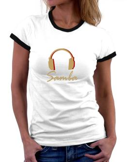 Samba - Headphones Women Ringer T-Shirt