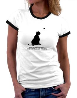 Easily Distracted By Subcontrabass Tubists Women Ringer T-Shirt