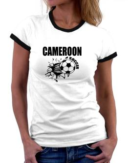 All Soccer Cameroon Women Ringer T-Shirt