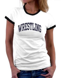 Wrestling Athletic Dept Women Ringer T-Shirt