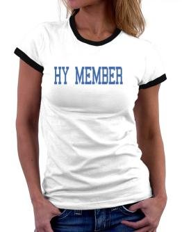 Hy Member - Simple Athletic Women Ringer T-Shirt