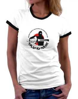 Ancient Semitic Religions Interested By Day, Ninja By Night Women Ringer T-Shirt
