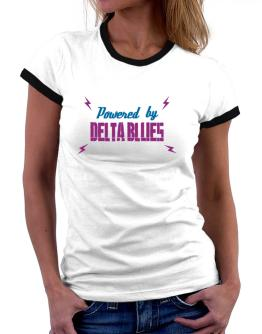 Powered By Delta Blues Women Ringer T-Shirt