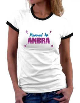 Powered By Ambra Women Ringer T-Shirt