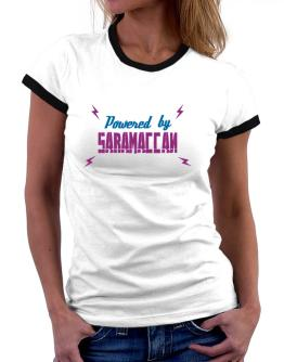 Powered By Saramaccan Women Ringer T-Shirt