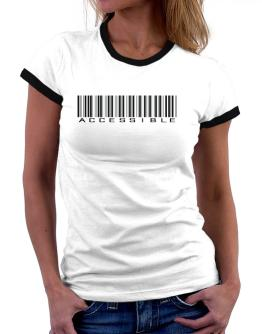 Accessible Barcode Women Ringer T-Shirt