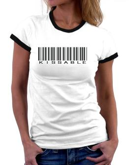 Kissable Barcode Women Ringer T-Shirt