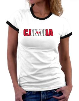 Canada Flag Women Ringer T-Shirt