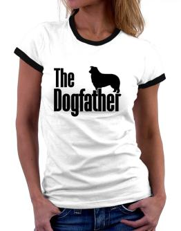 The dogfather Border Collie Women Ringer T-Shirt
