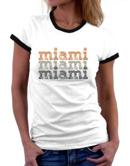 Miami repeat retro Women Ringer T-Shirt
