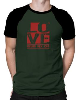 Love Devon Rex Raglan T-Shirt