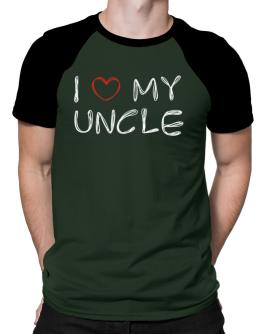 I love my Auncle Raglan T-Shirt