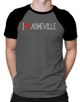 I love Asheville cool style Raglan T-Shirt