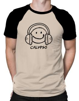 Calypso happy face Raglan T-Shirt