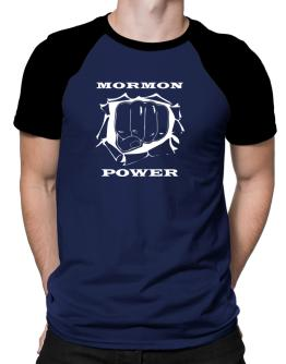 Mormon Power Raglan T-Shirt