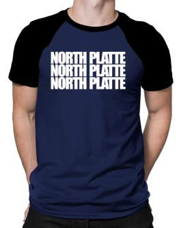 North Platte three words Raglan T-Shirt