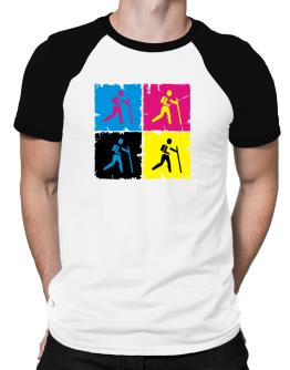 """ Geocaching - Pop art "" Raglan T-Shirt"