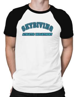 Retro Skydiving Athletics Department Raglan T-Shirt