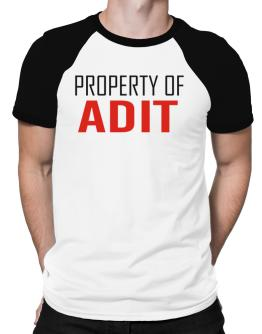 Property Of Adit Raglan T-Shirt