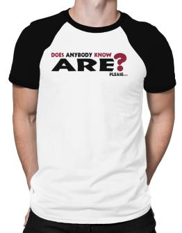 Does Anybody Know Are? Please... Raglan T-Shirt