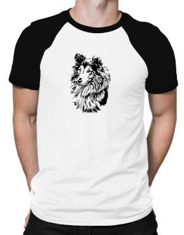 Shetland Sheepdog Face Special Graphic Raglan T-Shirt