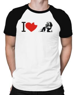 I love Beagles Raglan T-Shirt