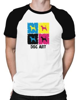 Beagle Dog Art - Pop Art Raglan T-Shirt