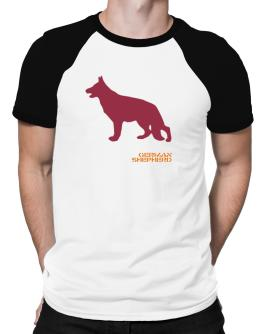 German Shepherd Stencil / Chees Raglan T-Shirt