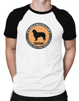 Australian Shepherd - Wiggle Butts Club Raglan T-Shirt