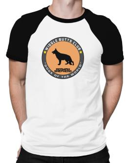 German Shepherd - Wiggle Butts Club Raglan T-Shirt
