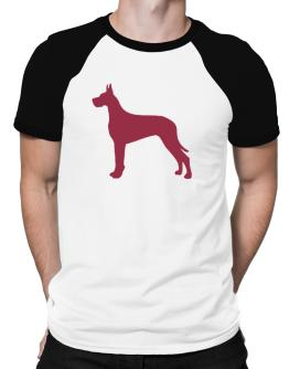 Great Dane Silhouette Embroidery Raglan T-Shirt