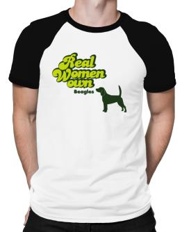 Real Woman own Beagles Raglan T-Shirt
