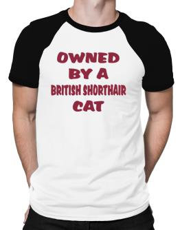 Owned By S British Shorthair Raglan T-Shirt