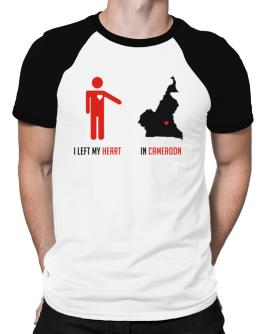 I Left My Heart In Cameroon - Map Raglan T-Shirt