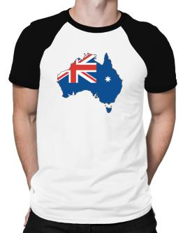 Australia - Country Map Color Simple Raglan T-Shirt