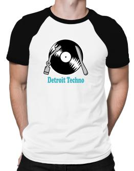 Detroit Techno - Lp Raglan T-Shirt