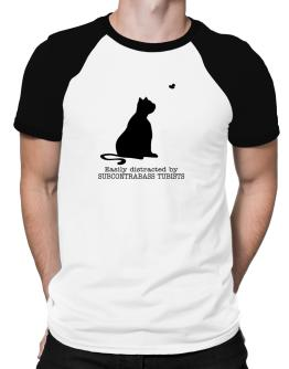 Easily Distracted By Subcontrabass Tubists Raglan T-Shirt