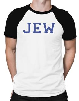 Jew - Simple Athletic Raglan T-Shirt