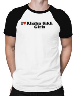 I Love Khalsa Sikh Girls Raglan T-Shirt