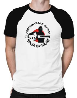 Abecedarian By Day, Ninja By Night Raglan T-Shirt