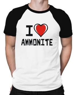 I Love Ammonite Raglan T-Shirt