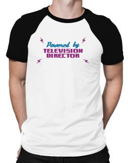 Powered By Television Director Raglan T-Shirt