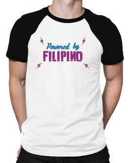 Powered By Filipino Raglan T-Shirt