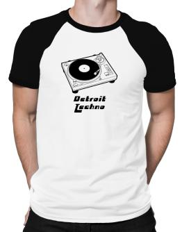 Retro Detroit Techno - Music Raglan T-Shirt