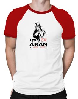 I Want You To Speak Akan Or Get Out! Raglan T-Shirt